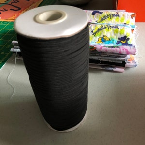 1 Roll 180 Yards 1/8 inch Elastic - Elastic for Face Mask - Skinny Elastic - Elastic by the yard - Thin Elastic - DIY - Make Face Mask photo