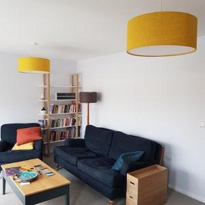 Orange Hessian Light Shade Lamp Shade 25cm 30cm 35cm 40cm 45cm 50cm 60cm 70cm