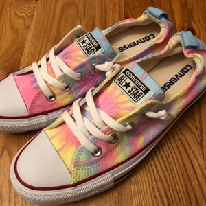 9b139b8c8018 Tie Dye Converse Shoes - Neon Pastel Colors - Can be Customized