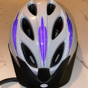Doll Bike Helmet-White Helmet with Easy Strap adjust Yourself Sticker for 18 inc