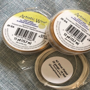 Premium Silver Plated Wire - Half Hard - Non Tarnish - You Pick Gauge 14, 16, 18, 20, 22, 24, 26 - 100% Guarantee photo