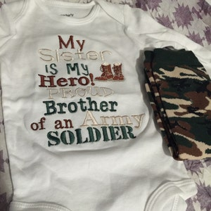 My uncle is my hero proud nephew of an army soldier Shirt or bodysuit and legwarmers