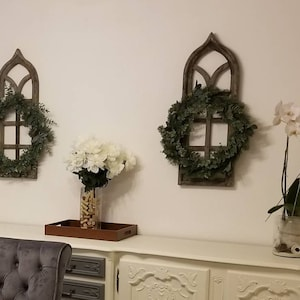 Two Decorative Wood Shutters Wall Decor Distressed Wall Etsy