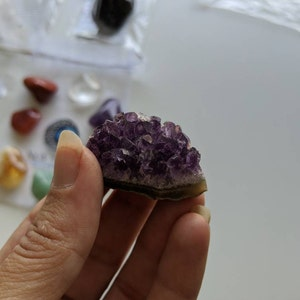 """Raw Amethyst Crystal Cluster (1"""" - 1.5"""") - Amethyst Cluster - Amethyst Geode - Raw Amethyst Point - Healing crystals and stones - chakra photo"""