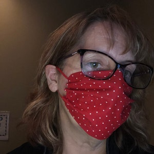 1/8 inch Elastic - Red - Skinny Elastic - Elastic by the yard - Thin Elastic - DIY - Headbands - Elastic for Face Mask photo