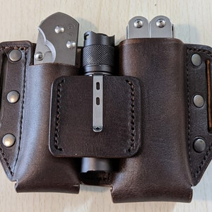 PDF set 3 in 1  leather Bandolier for 6 and 12 rounds of 12 gauge  Shotgun Pouch Three variant