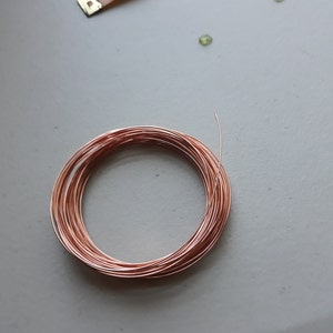 Copper Wire - Solid Raw Metal - Dead Soft 100% Guarantee You Pick Gauge 2, 4, 6, 8, 10, 12, 14, 15, 16, 18, 20, 21, 22, 24, 26, 28, 30, 32 photo