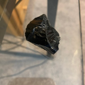 Black Obsidian Stone - Raw Black Obsidian Crystal - healing crystals and stones - Black Obsidian - root chakra stones photo
