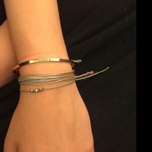 Personalized Gift Custom Coordinates Bracelet Engraved Personalized Bracelet for Women Personalized Jewelry Gold Friendship Bracelet - DFBR photo