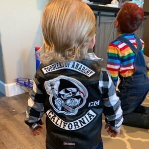 Harley Davidson Justaucorps /& Bavoir Pour Bébé /& Bébé Kid orange//noir