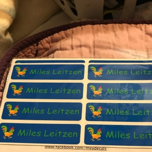 Daycare Labels - Dishwasher safe Labels- Waterproof Labels - Name Labels - Customized Labels - Name Stickers - School Supply Labels photo