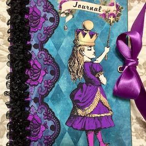 Dark Alice's Adventures in Wonderland Digital Scrapbooking Kit, instant download digital paper and clip art graphics photo