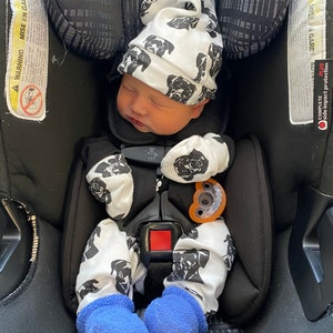 Golden Retriever Baby Hat And Mittens Set Newborn Hospital