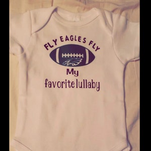5b66d6482 Fly Eagles Fly lullaby onesie | Etsy