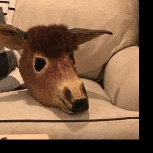 Donkey MaskDIY Printable Animal Head Instant Pdf Download DIY New Year Mask Templates 3D Polygon Masks