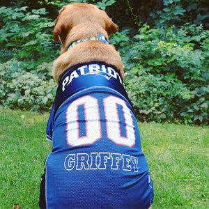 7f39f42b7fb New England Patriots Pet Dog Jersey Bandana Collar Bed | Etsy