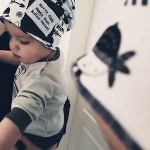 c038276619f Hand printed baby hat ku 36-40 cm cap newborn baby beanie