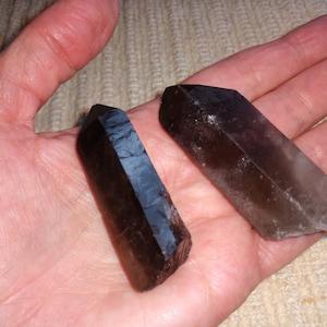 Raw smoky quartz point crystal - raw Smoky Quartz Crystal - Crystal Quartz - Smoky Quartz point - Healing Crystals and stones - Root Chakra photo