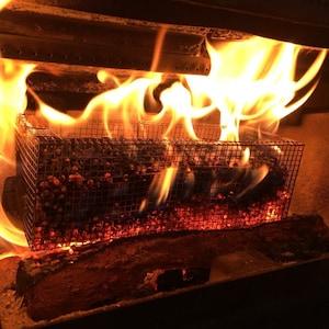 Repose Stainless steel Open Face Wood Pellet  Fire Logs Nesting Basic Set