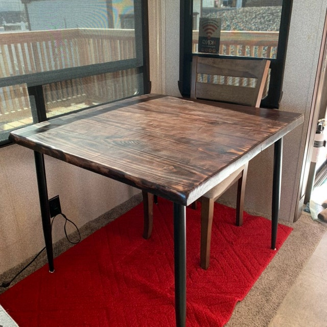 Reclaimed Wood & Metal Dining Table - Farmhouse Table, Rustic Dining Table