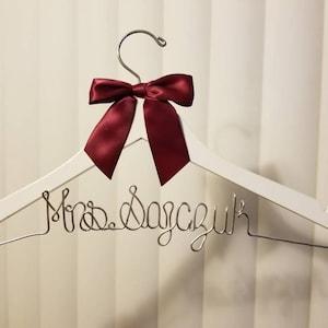 Wedding Hanger, Bridal Hanger, Bridesmaid Gift, Bridesmaid, Custom Engagement, Mother of the Bride Gift, Mother of the Groom Gift, MOH Gift photo