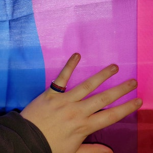 Trans Pride Stainless Steel Ring