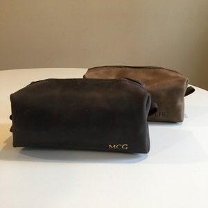 Leather dopp kit, Personalized groomsmen gift, leather dopp kit, mens leather toiletry bag, mens dopp kit, mens toiletry bag photo