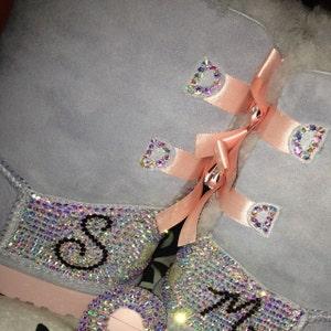 IN STOCK! Custom Embellished Adidas vs qt vulc, AB Crystals!!!