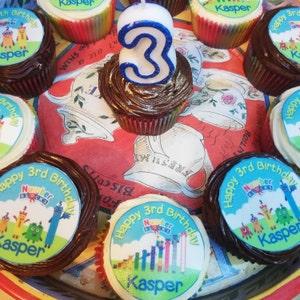 "NUMBERBLOCKS 8  ROUND 8/""  CAKE TOPPER ICING OR RICEPAPER"