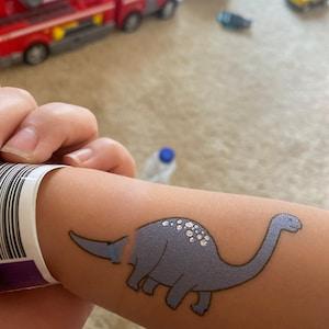 56pcs Fake Childrens Dino Tattoos Colourful Temporary Dinosaur Tattoo for Boys Kids Dinosaur Birthday Party Supplies Favors HOWAF Glitter Tattoos Dinosaur Temporary Tattoos for Kids