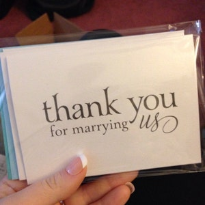 Wedding Card to Your Officiant - Thank You for Marrying Us - Priest, Rabbi, Deacon Note Card to go w/ Gift - CS08 photo