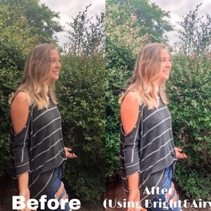 BRIGHT AIRY presets, Lightroom presets, blogger photo presets, mobile presets and desktop presets, instagram Filters for Lightroom Mobile photo