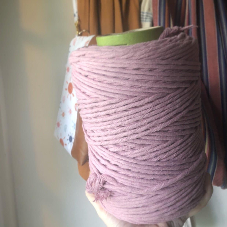 Ecru Color; cotton string GANXXET Combed Cotton Cone 2 mm macrame cord macrame cotton cord