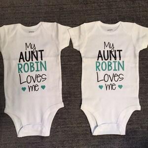 Ma tante m/'aime brodé bébé ange Babygrow Cadeau Personnalisé de tante