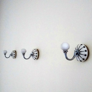 Cambridge Grey Ceramic Wall Hooks