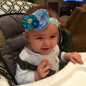 Lace Headband - Set of 5 - Interchangeable headbands - Baby headbands - Stretch Headbands - Wholesale Headbands - YOU CHOOSE COLORS photo