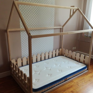 Children Bed Twin Size Montessori Bed Floor Bed Children