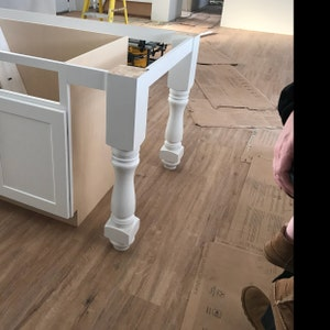 Unfinished Farmhouse Kitchen Island or Counter Height ...