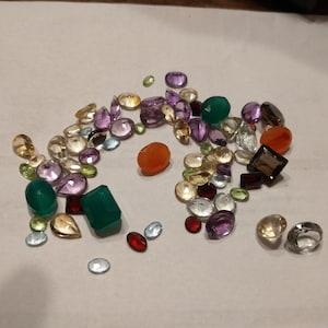 Mixed Loose Gemstones, Mixed Gem Stone, Multi Color Stone, Mix Shape Stones, Gemstones, Birthstone, Precious stone GemMartUSA (MX-60001) photo