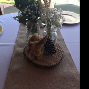 """10 Wood Slices Dried 9"""" to 10"""" Rustic Wedding, Wood Slice, Wood Round, Wood  Chargers, Centerpieces, Tree Slices, Wood Cookie"""