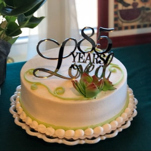 85th Birthday Cake Topper 85 Years Loved Happy For