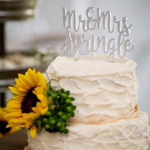 Rustic Mr and Mrs Wedding Cake Topper by Rawkrft - Custom Cake Topper - Birthday Cake Topper - Anniversary Baptism Baby Shower Topper photo
