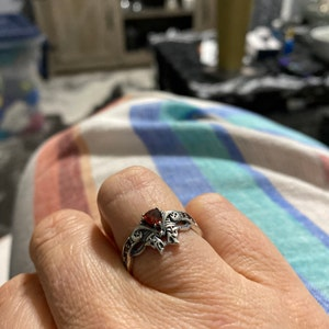 Sterling Silver Man/'s Ring Victorian Ring with Red Gem Man/'s Ring Cubic Zirconium Ring for Man Red Gem Ring Garnet Ring for Man