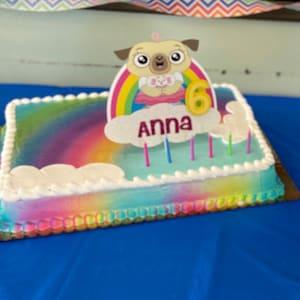 Amazing Chip And Potato Cake Topper Etsy Personalised Birthday Cards Veneteletsinfo
