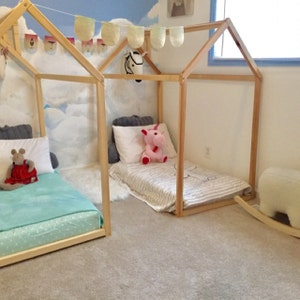 Toddler bed Play house bed frame Children bed Bunk bed ...