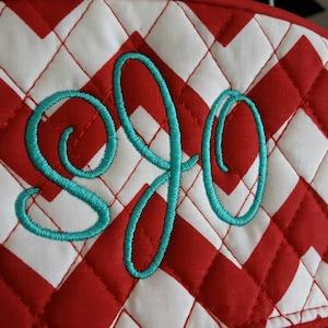 Sweetheart Machine Embroidery Font Monogram Alphabet - 3 Sizes photo