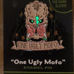 Glow in the Dark BLOOD Soft Enamel Pin Predator Scifi Inspired One Ugly Mofo