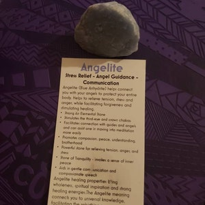 Raw Angelite Stone (Anhydrite) from Peru - Rough Stones - Raw Angelite Stone - Raw Angelite Crystal - Anhydrite Crystal - Anhydrite Stone photo