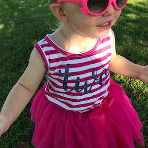 1a3a51799c2a First Birthday outfit dress with purple letters and purple | Etsy