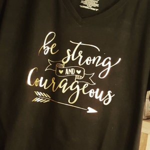 36a200fc1a9 Be Strong and Courageous SVG Inspirational SVG Vector File.